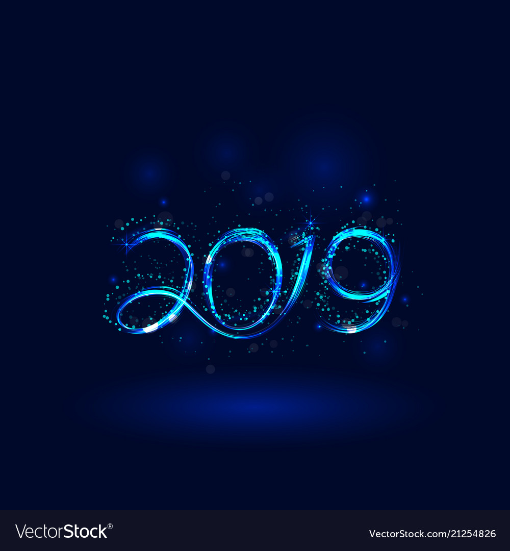 Happy New Year 2019 Background For Royalty Free Vector Image