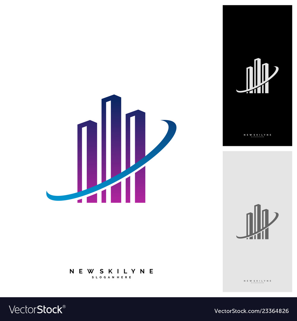 Modern city logo concepts corporate business