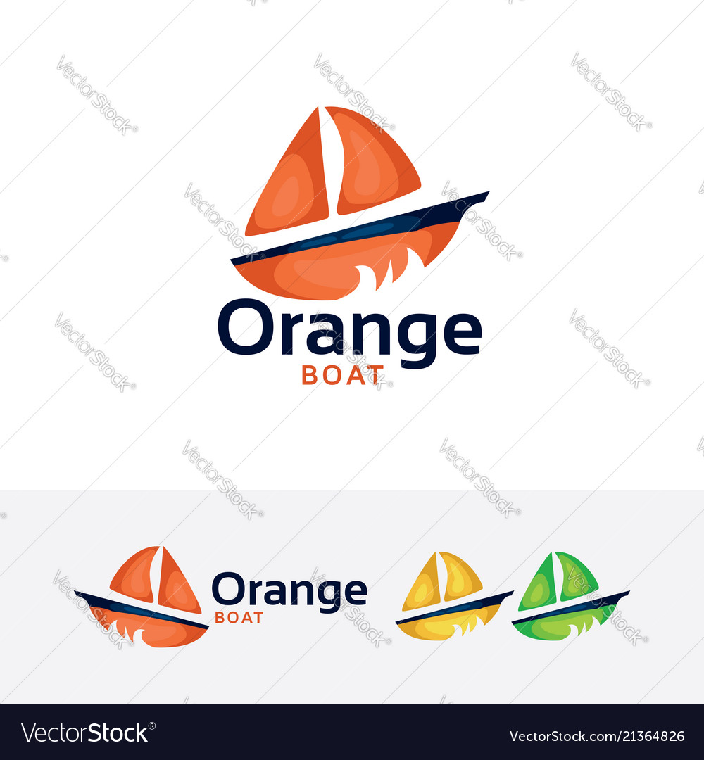 Orange boat logo