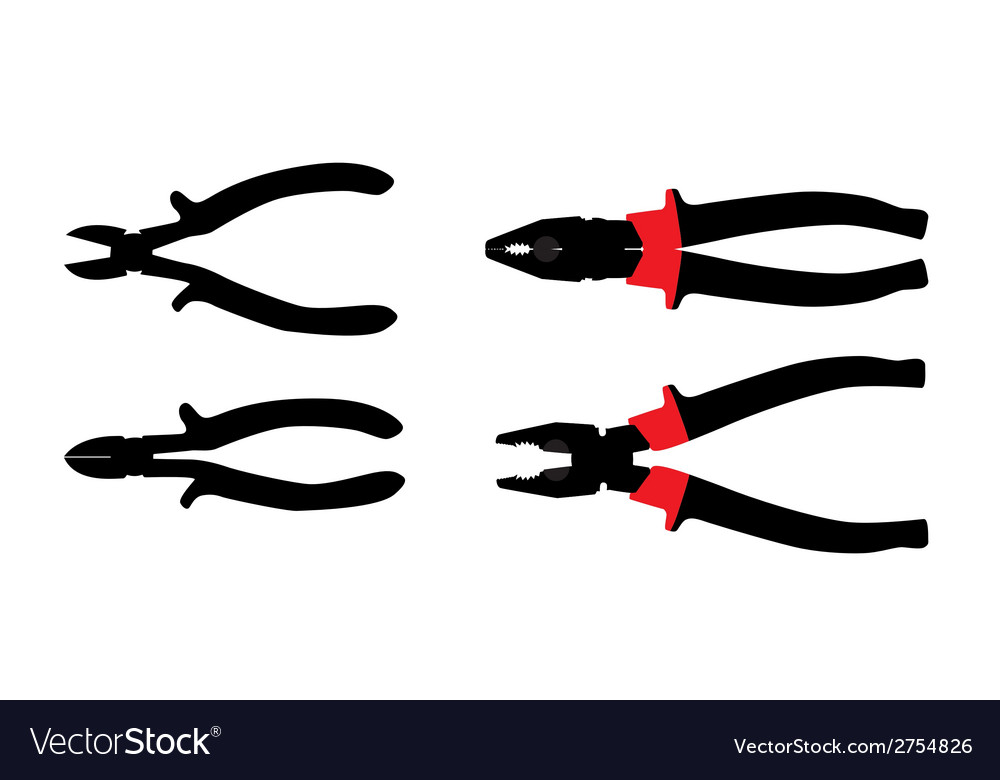 Pliers Tools Isolated on White Bacground vector image