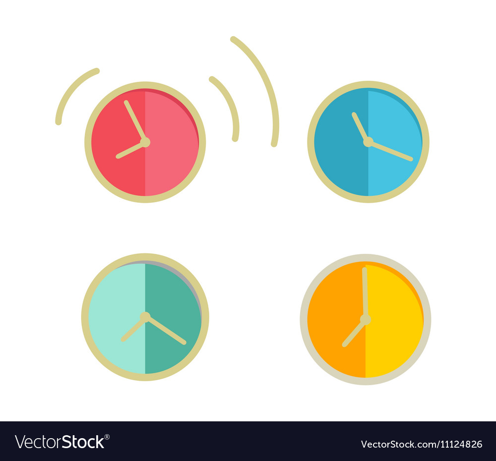 Round Wall Clock Set