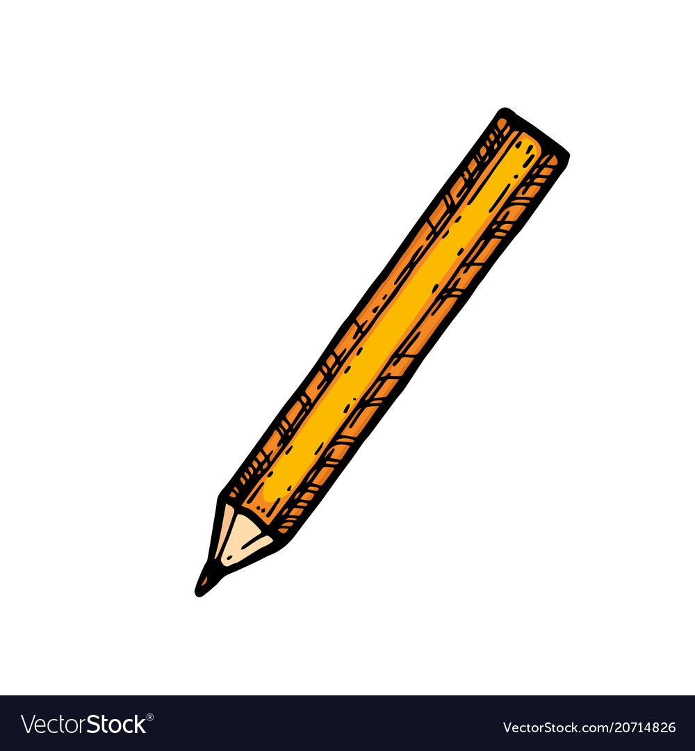 Sharpened detailed pencil