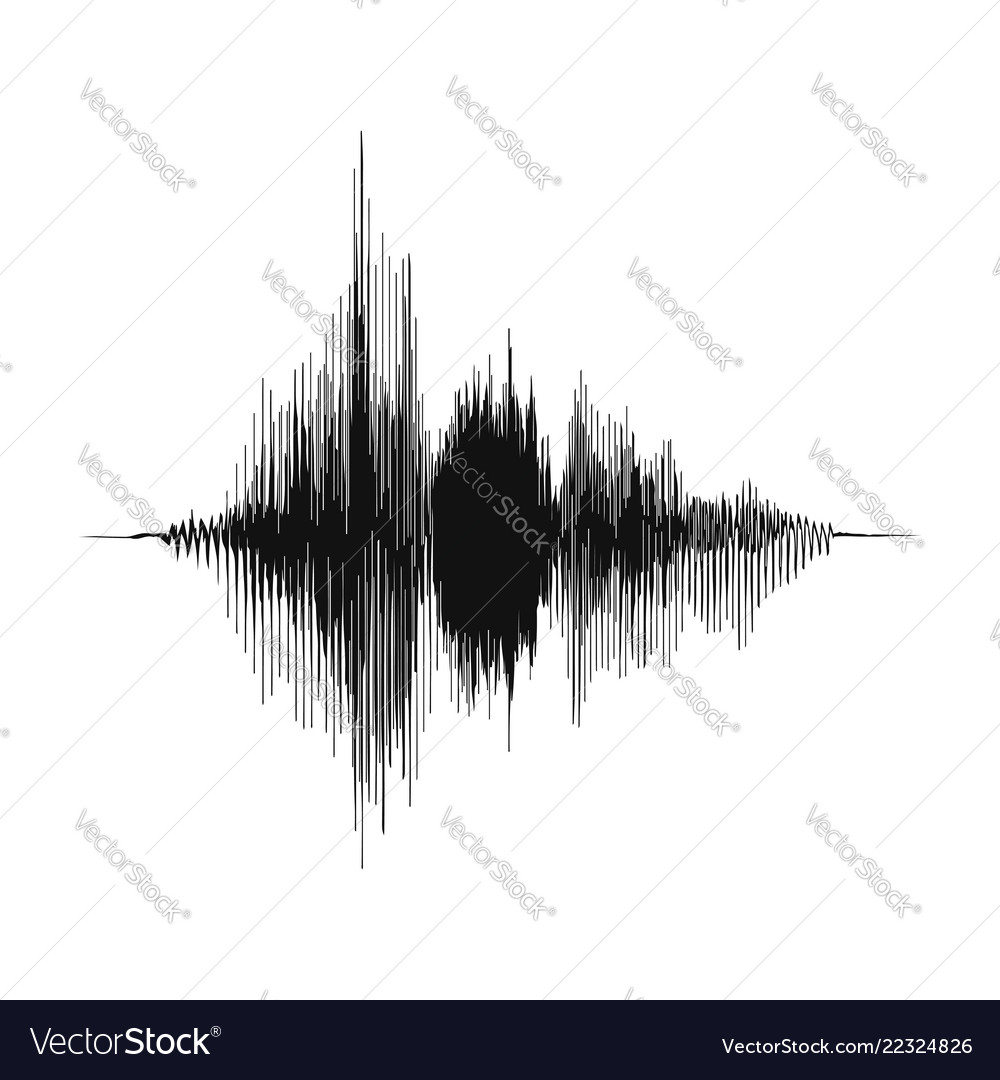 Sound wave voice recording concept and music