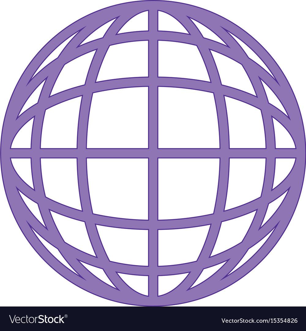 Sphere global symbol vector image
