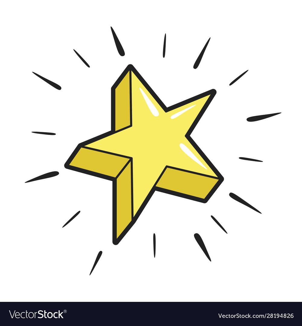Star yellow icon success and celebration design