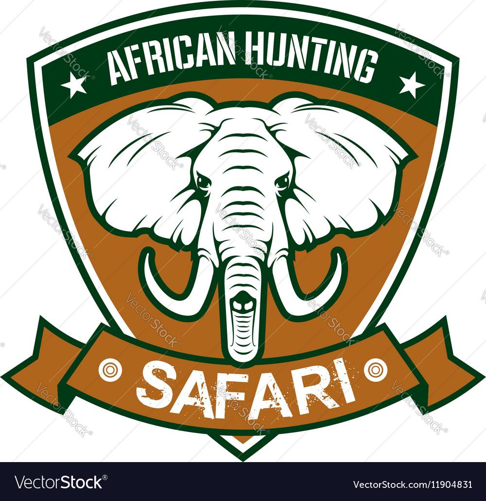 African hunting safari club sign vector image
