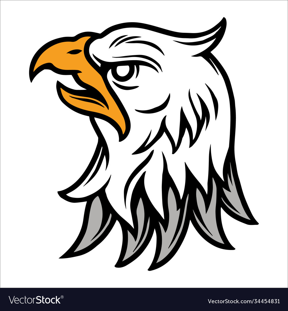 Angry eagle head vintage tattoo concept