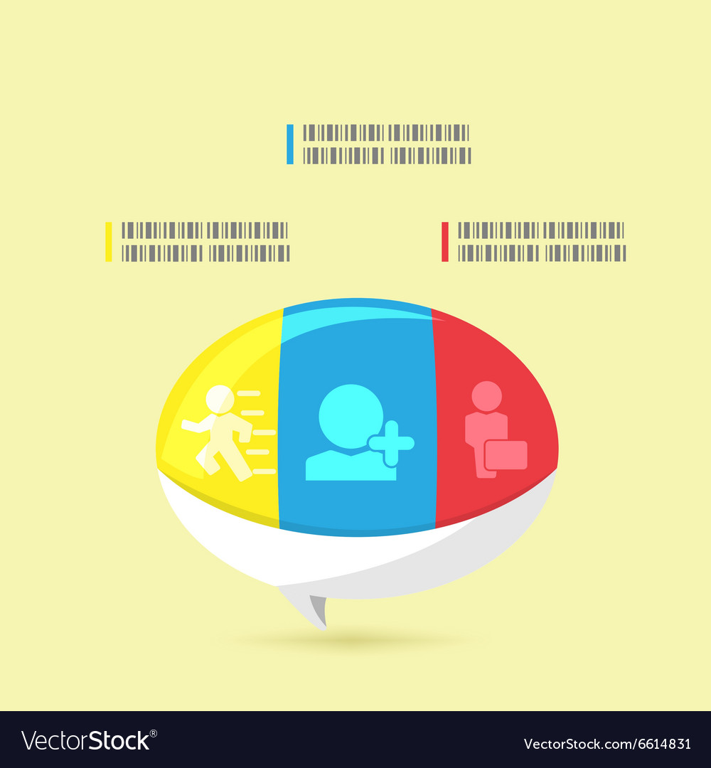 Bubble Info Graphic Modern Template vector image
