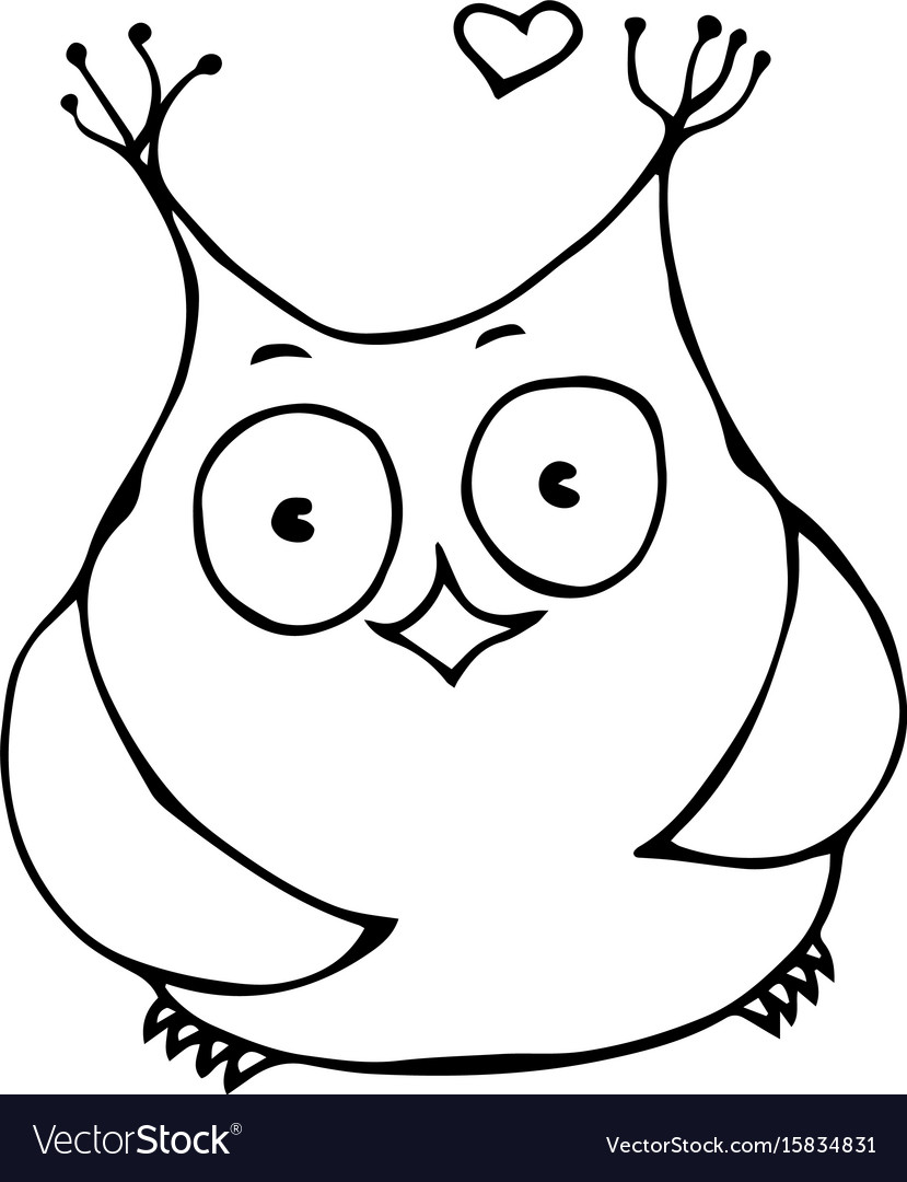 Cute funny happy cheerful owl bird isolated on a vector image