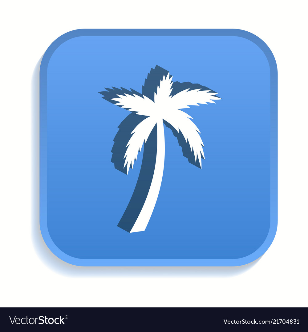 Palm tree isometric icon for graphic and web