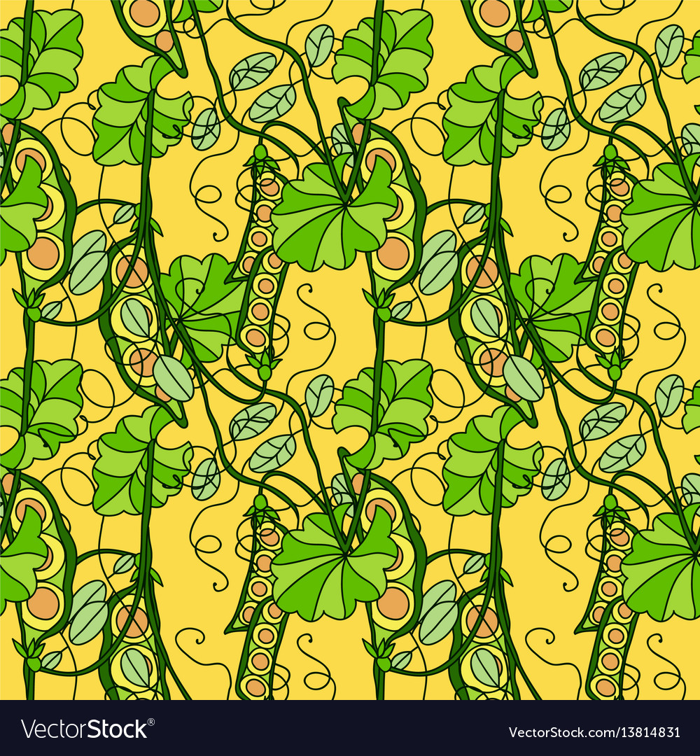 Seamless pattern of abstract sweet peas