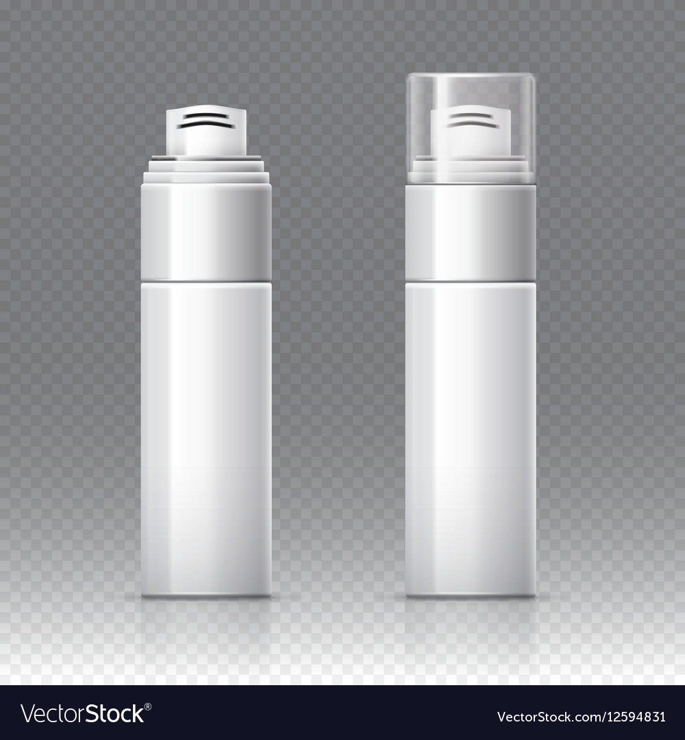 Shaving foam cosmetic bottle sprayer container vector image