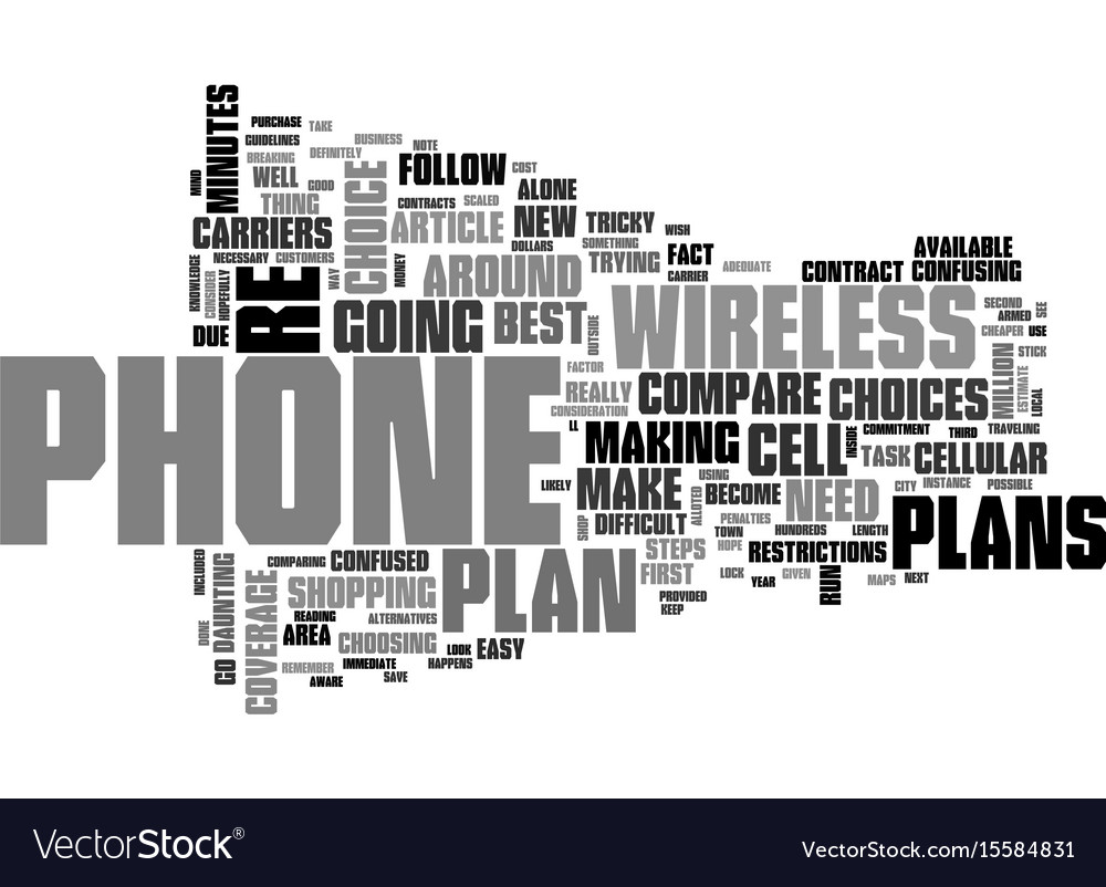 Wireless Phone Plans How To Compare Vector Image A Diagram For Business