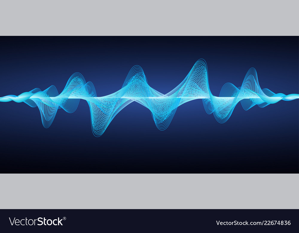 Abstract blue sound waves