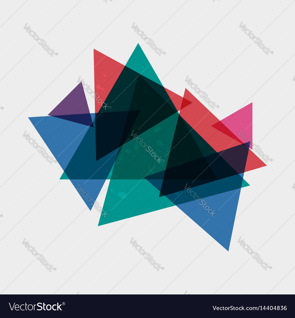 Abstract triangles background