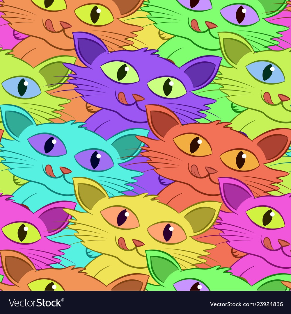 Cat with fish tile pattern