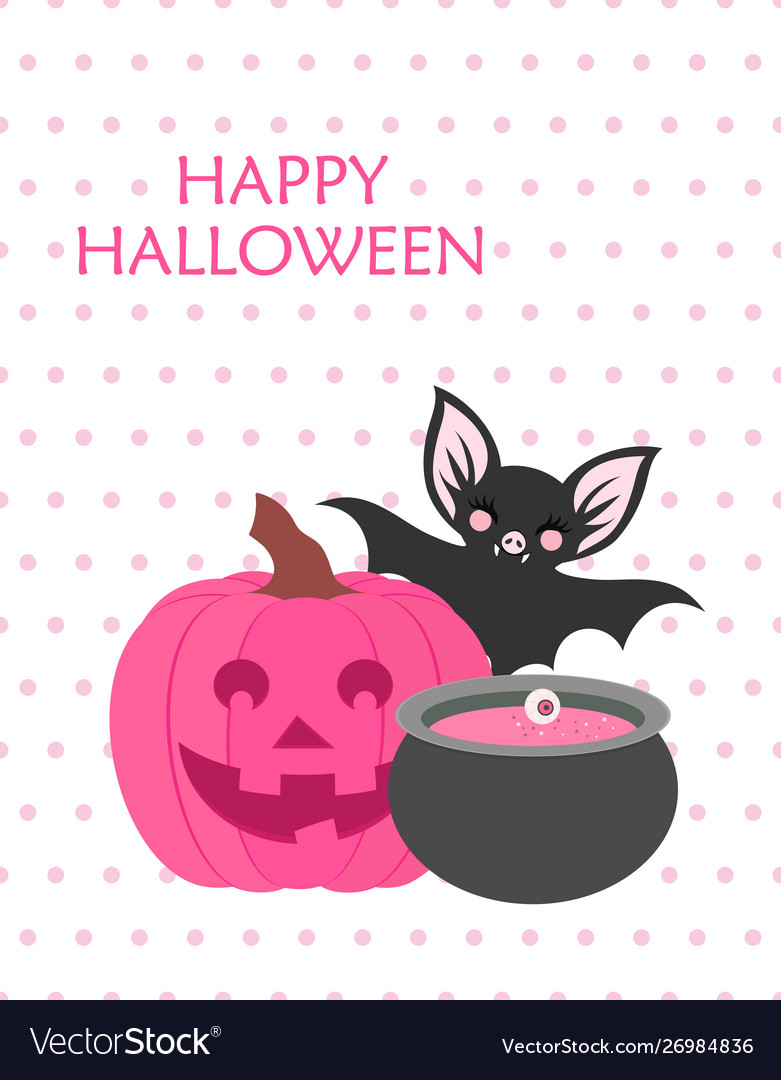 Cute happy halloween poster
