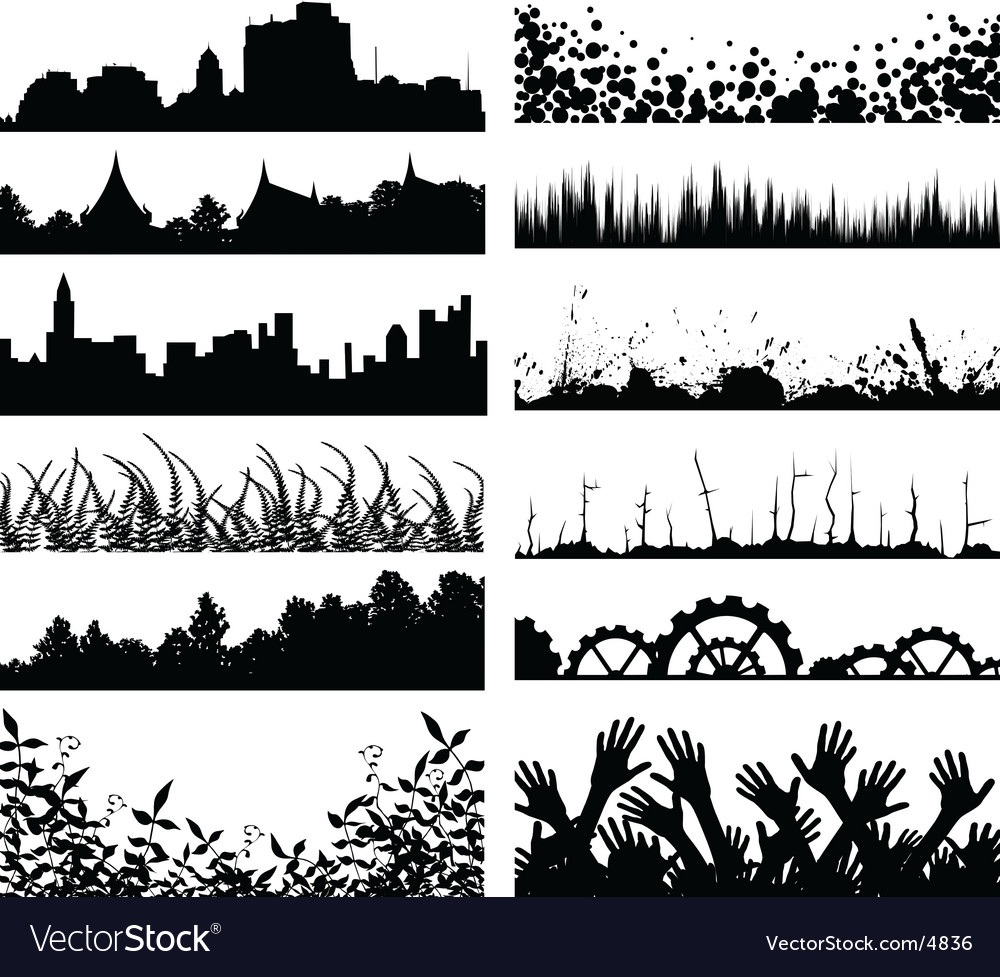Foregrounds vector image