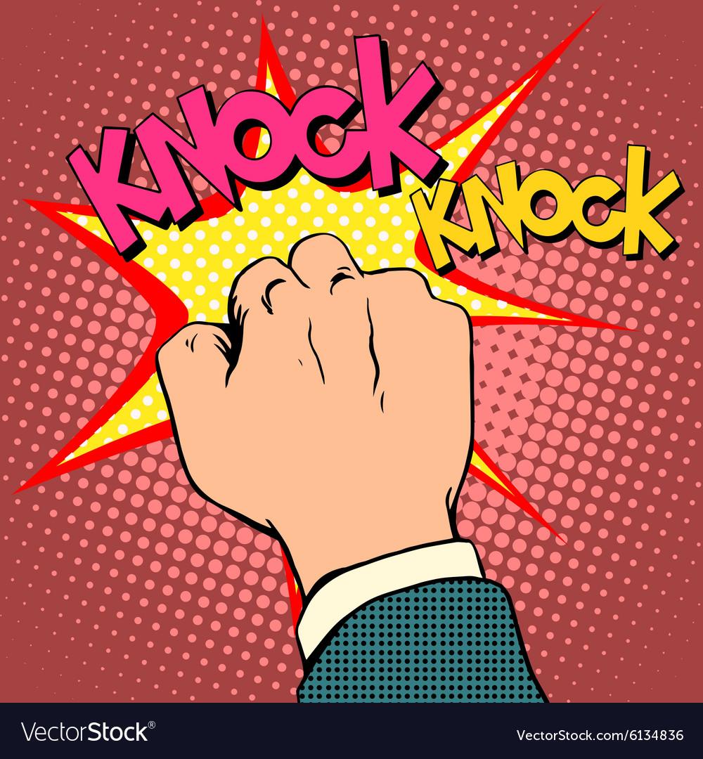 Knock door hand Royalty Free Vector Image - VectorStock