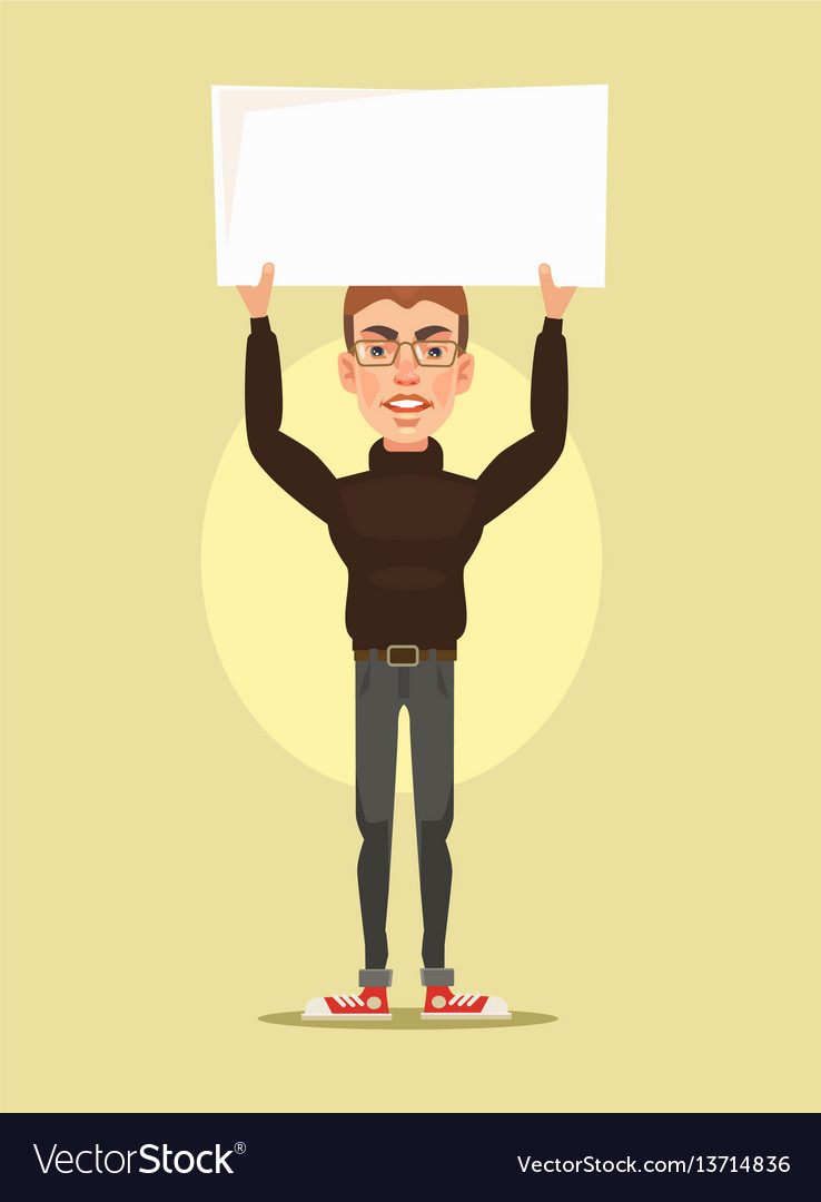 Man character protest vector image