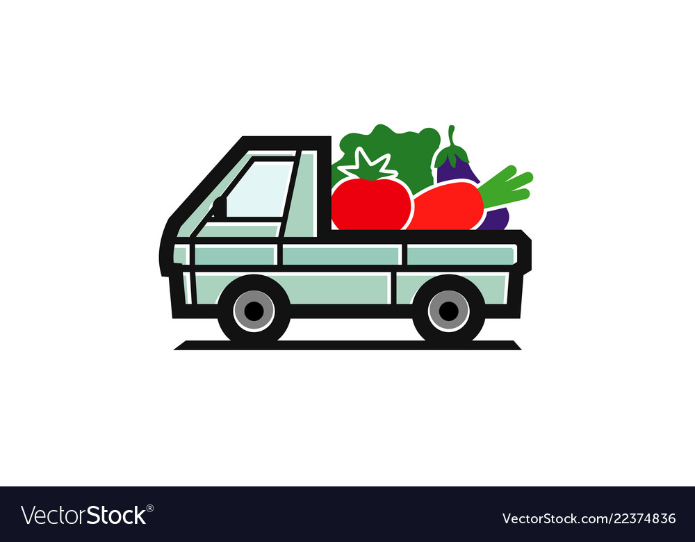 Vegetable truck logo