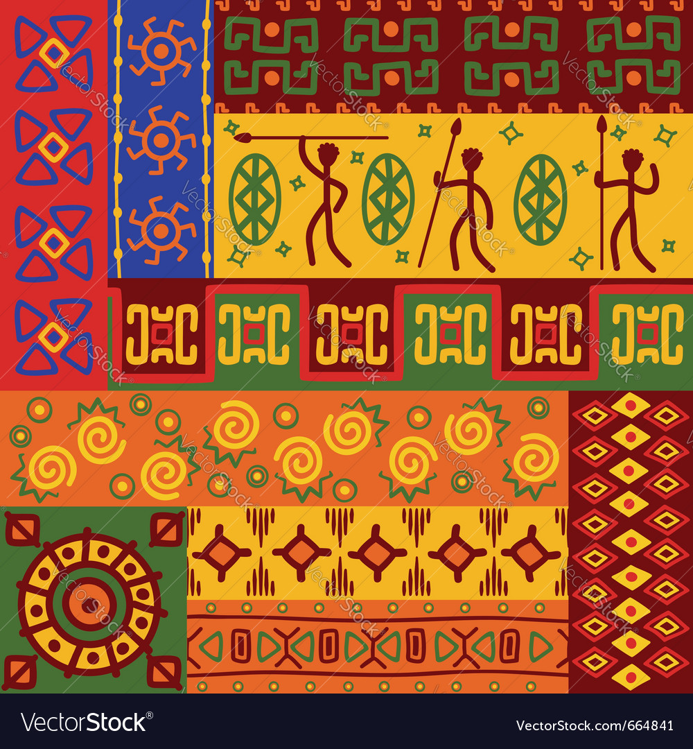 Abstract african ethnic patterns