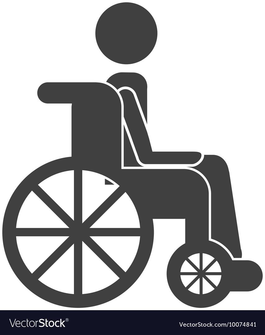 Human person wheelchair icon