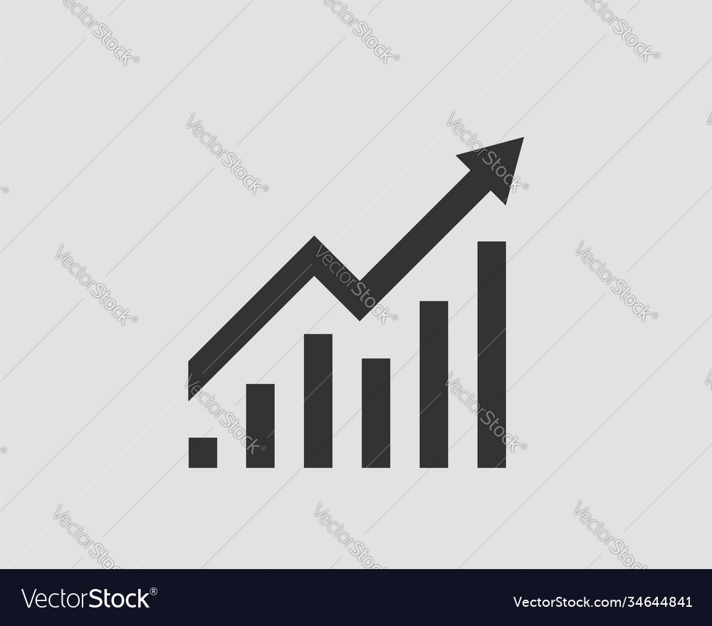 Increase profit icon growing bar graph