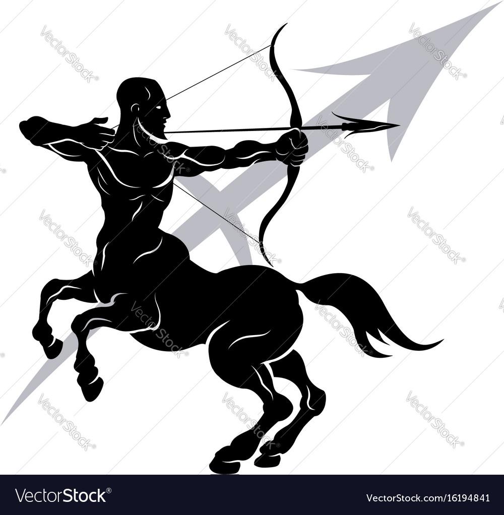 Sagittarius zodiac horoscope astrology sign vector image