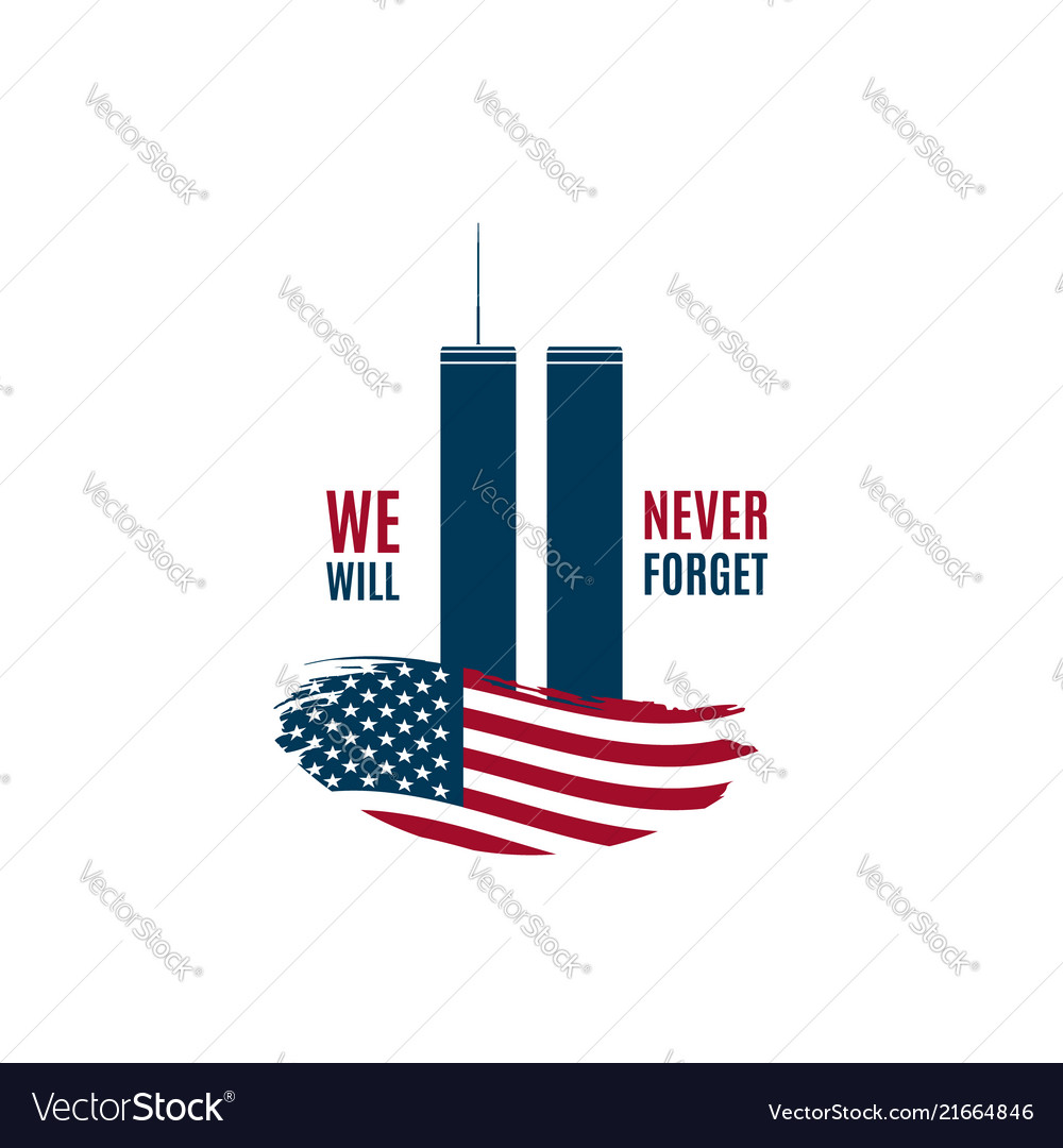 911 patriot day card with twin towers