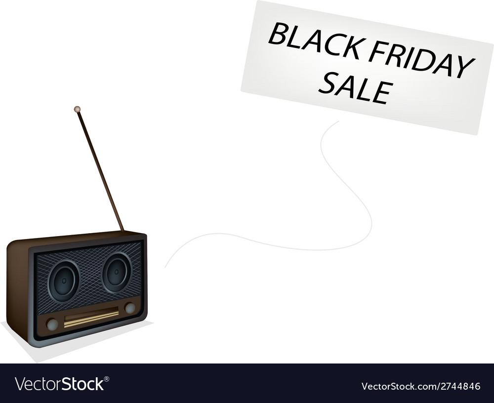 Beautiful Old Radio Playing Black Friday Song