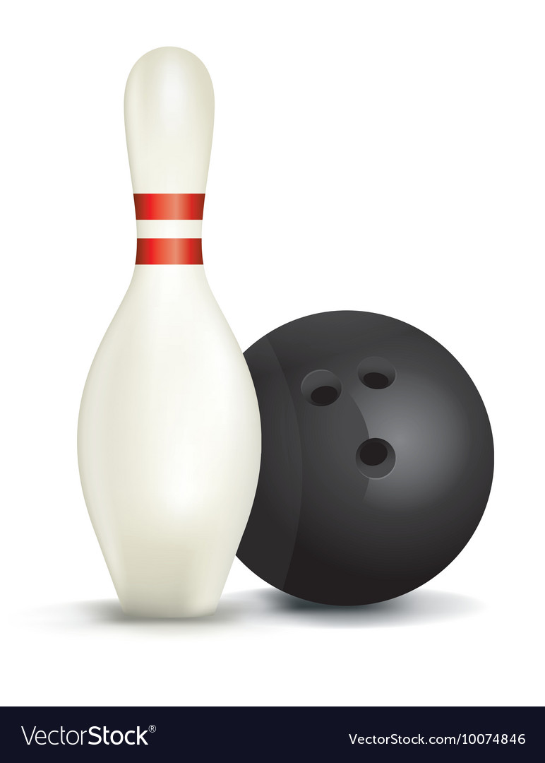 Bowling pin and ball