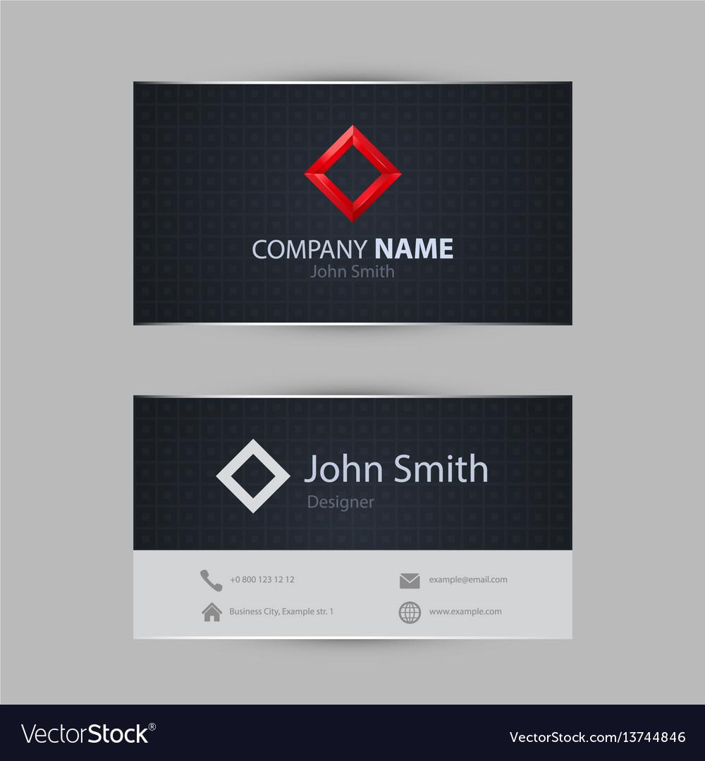 Clean dark modern business card