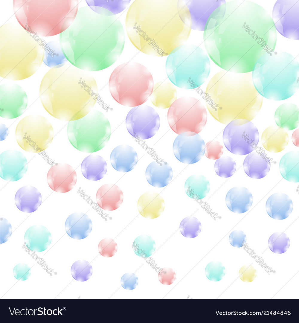 colored soap bubbles pattern royalty free vector image