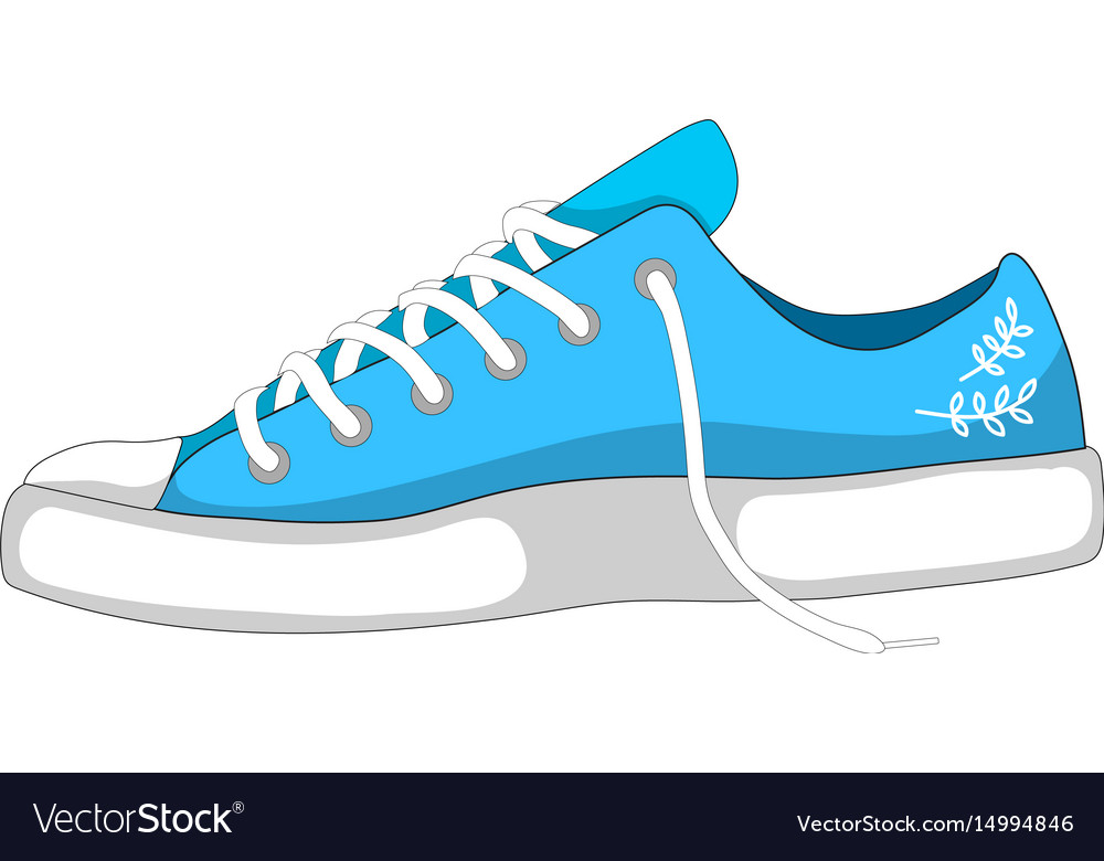 Fashionable woman s shoes snickers isolated on vector image