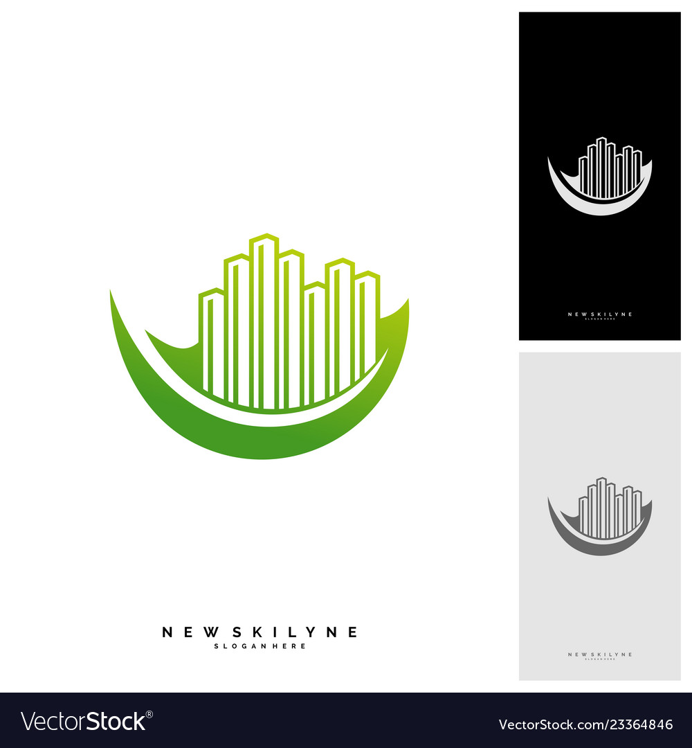 Green city logo concepts symbol icon of