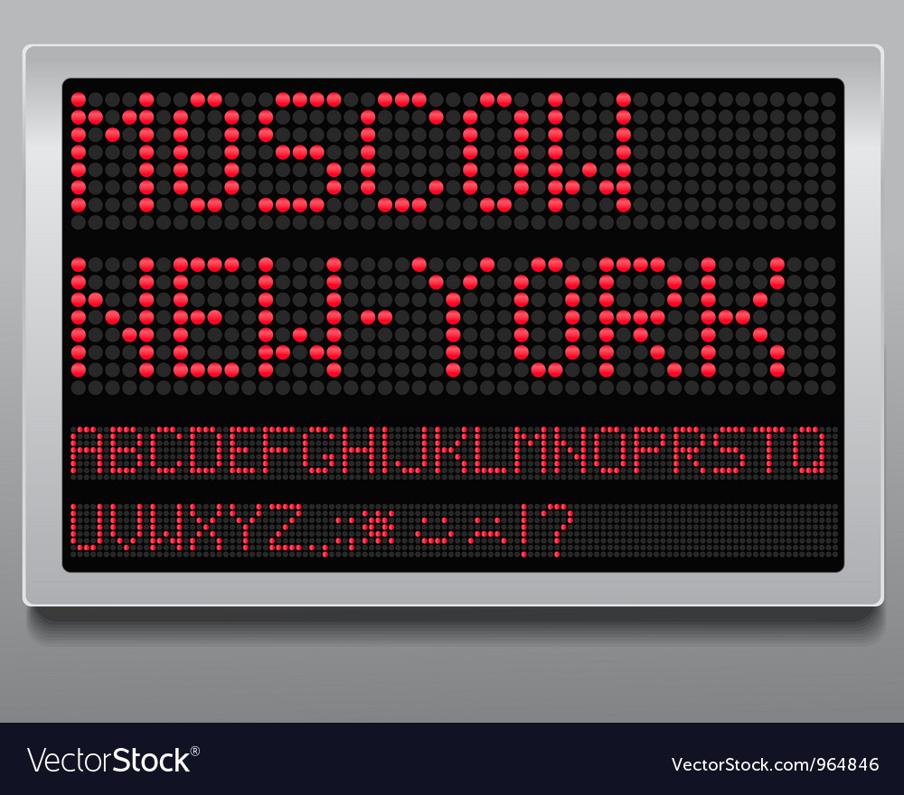 Information board vector image