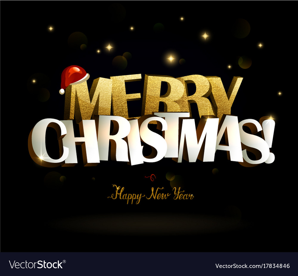 Merry christmas and happy new year inscription