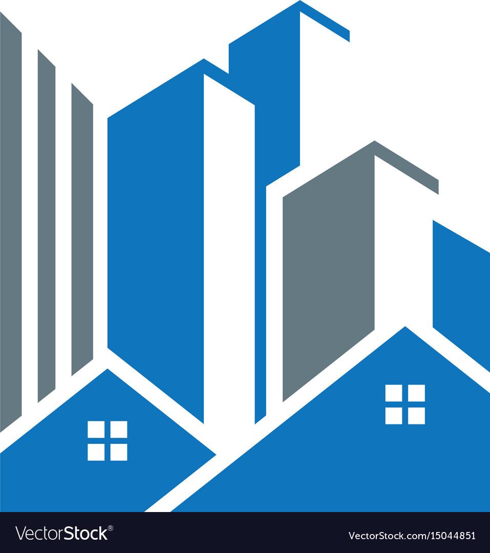 Buildings real estate vector image