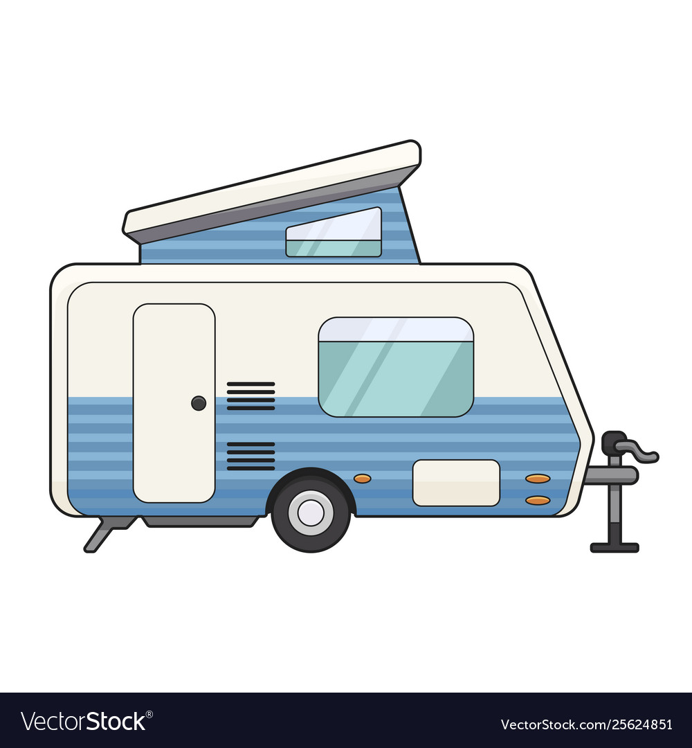 Camping trailer icon travel and vacation family