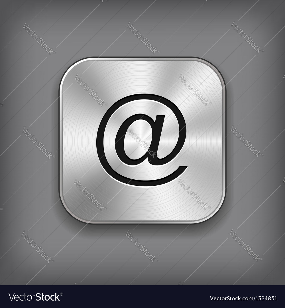 Mail icon - metal app button