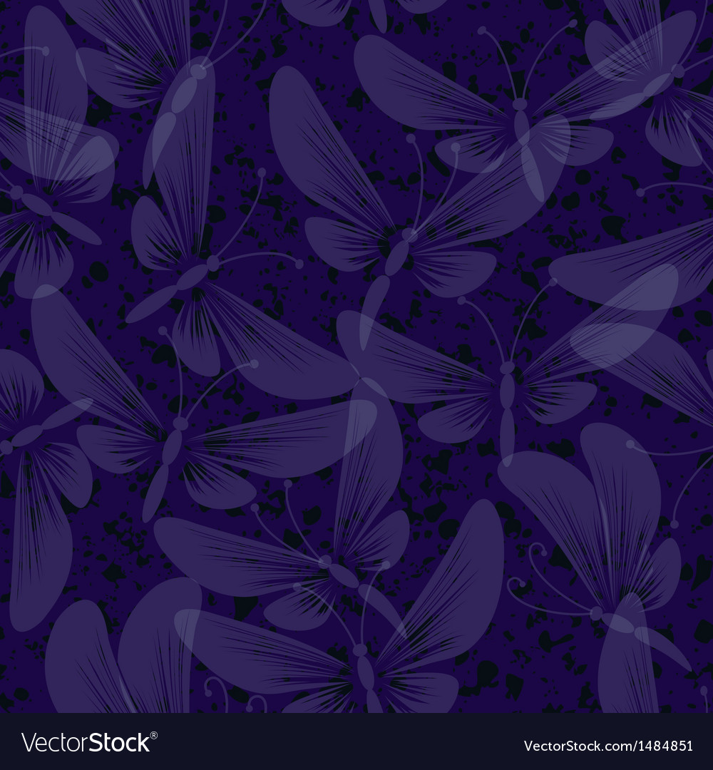 Night moth butterflies seamless background