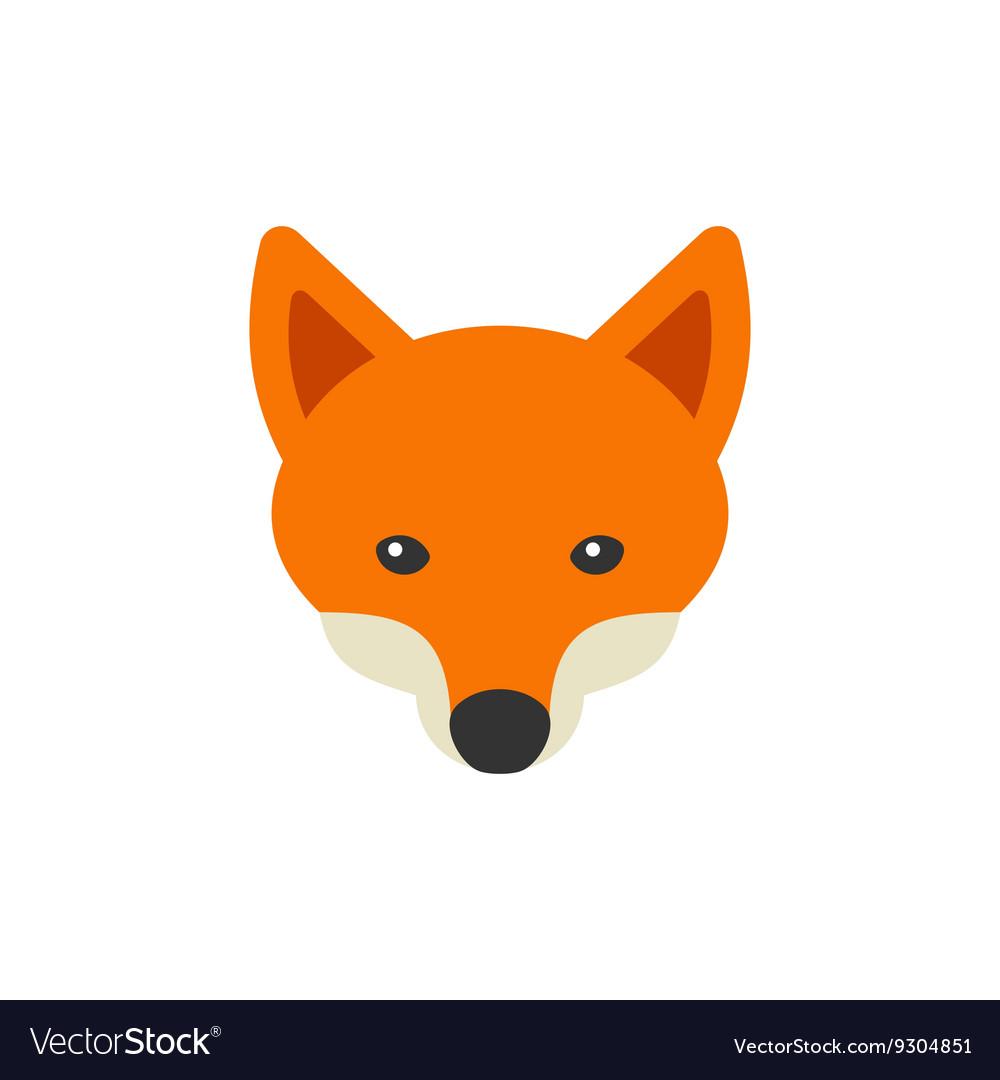 Red Fox Head Logo on White Background