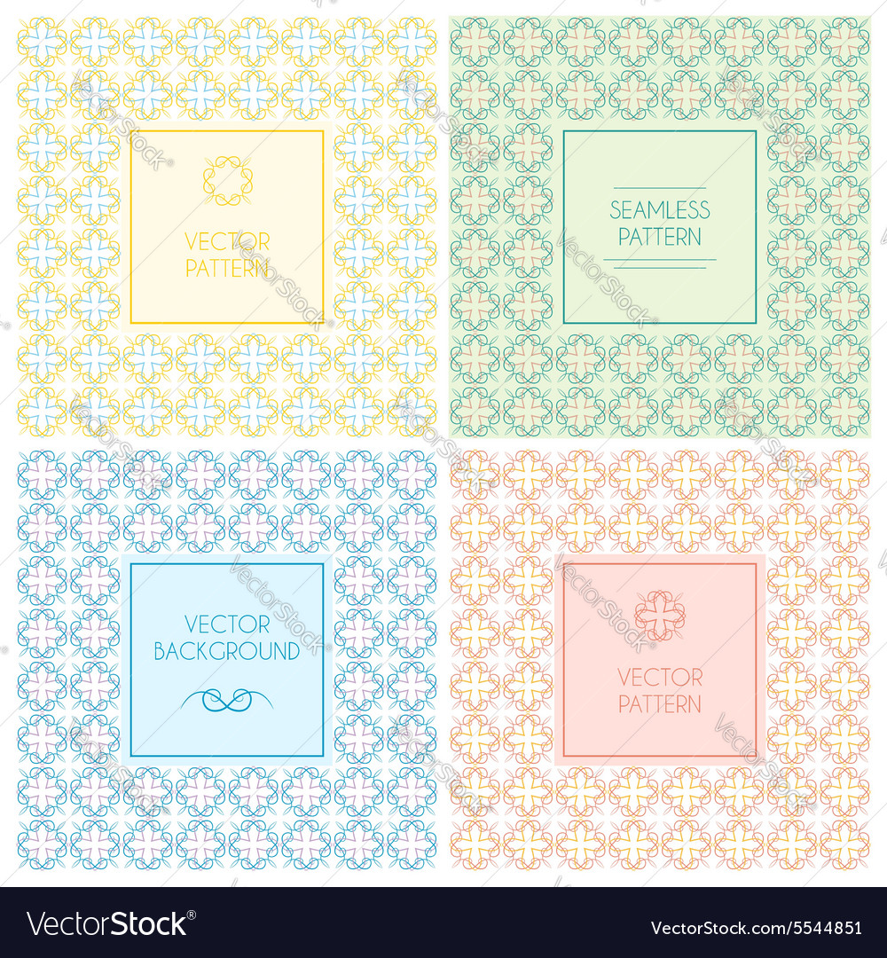 Seamless patterns with labels and text vector image