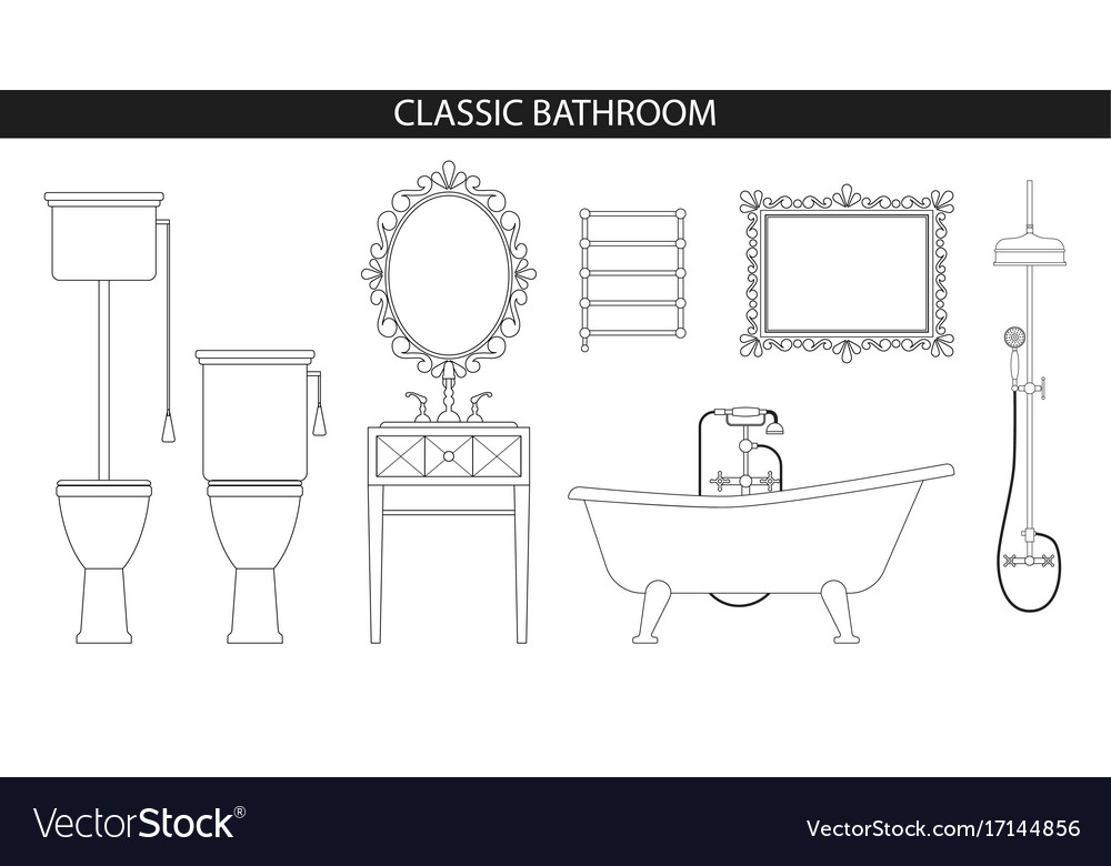 Classic old style furniture for the bathroom