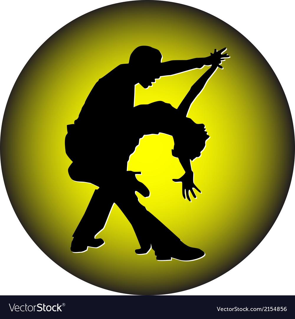 Dance people silhouette