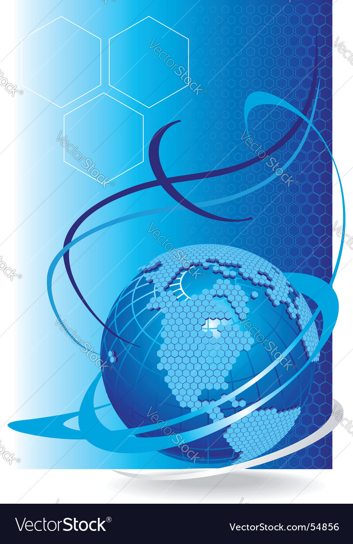 Global cellular network vector image