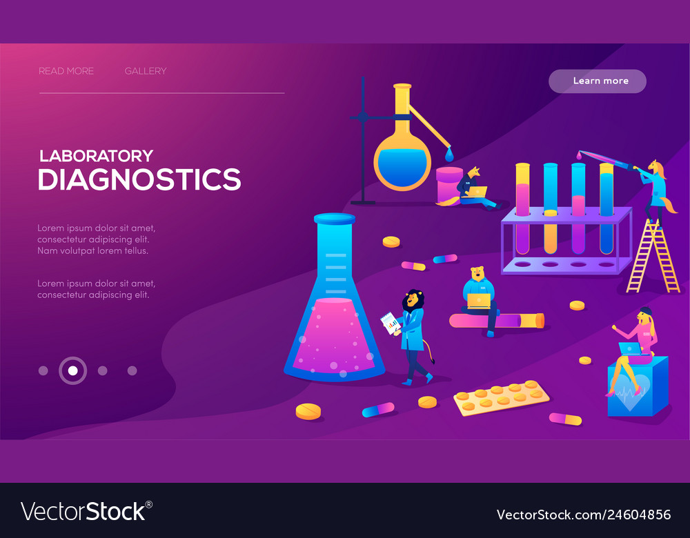 Medical laboratory research with science glass est
