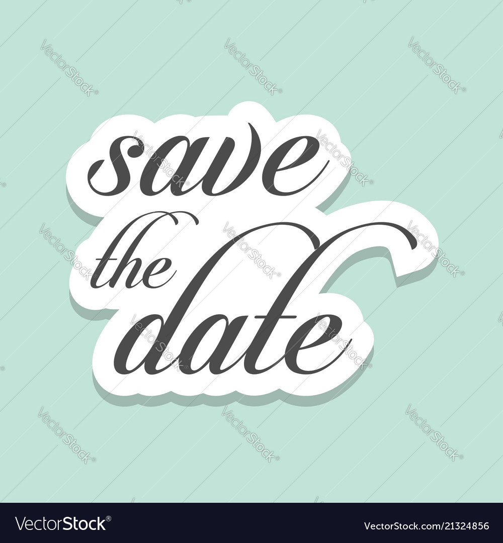 save the date vintage templates royalty free vector image