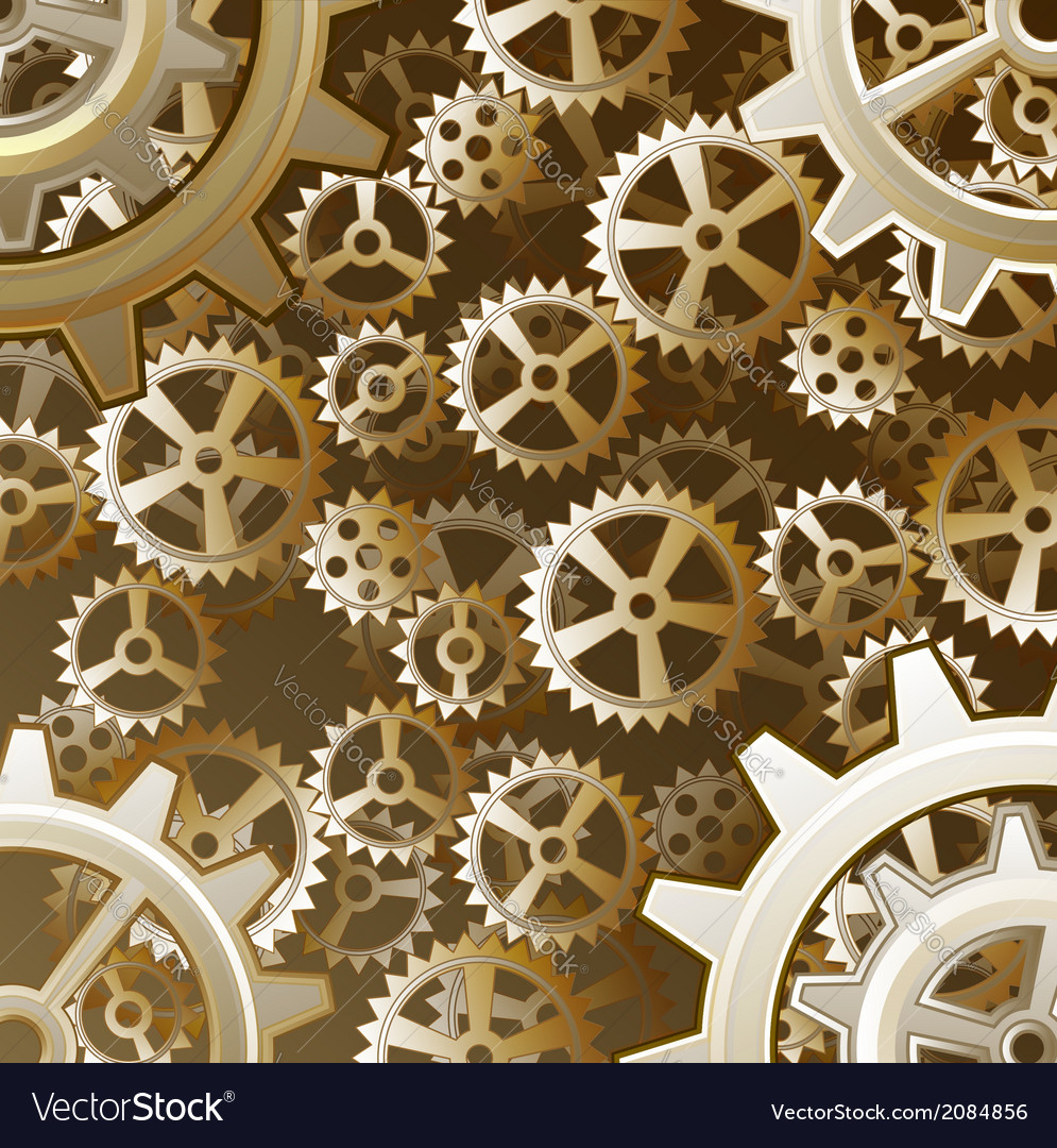 steampunk gears background royalty free vector image